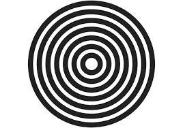 Tejido en crochet en círculo plano